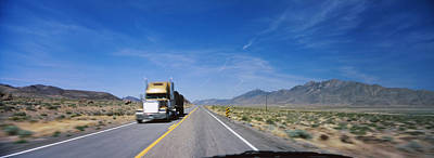 Truck On A Highway Viewed Poster by Panoramic Images