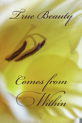True Beauty Comes From Within Poster by Marnie Patchett