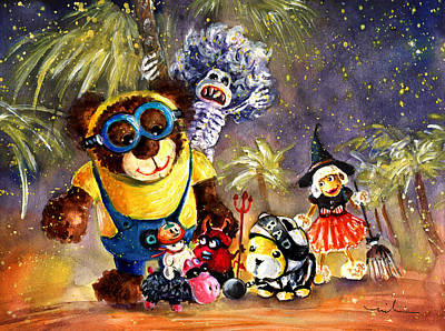 Truffle Mcfurry Halloween Party Poster by Miki De Goodaboom