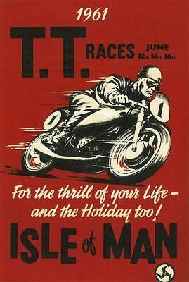 Tt Races 1961 Poster by Georgia Fowler