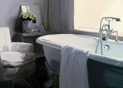 Tub In Grey Poster by Patti Siehien