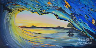 Tubular Sunset Poster by Merrin Jeff