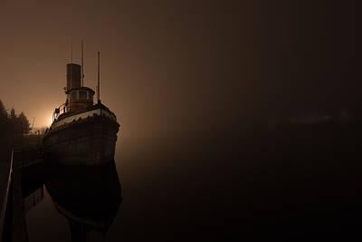 Tug Boat In Fog Poster by Jakub Sisak
