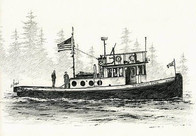 Tugboat Henrietta Foss Poster by James Williamson