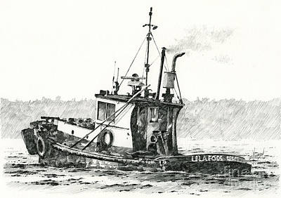 Tugboat Lela Foss Poster by James Williamson
