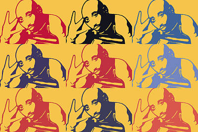 Tupac Shakur Graffiti In Andy Warhol Style Poster by Toppart Sweden