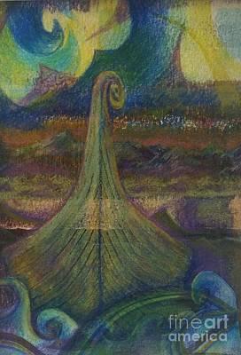 Turbulence Poster by Cynthia Lagoudakis
