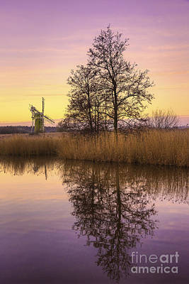 Turf Fen Mill At Sunrise Poster by Svetlana Sewell