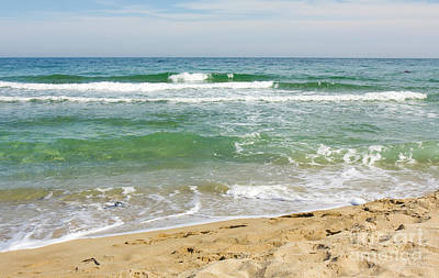 Turguoise Sea With Waves Poster by Irina Afonskaya