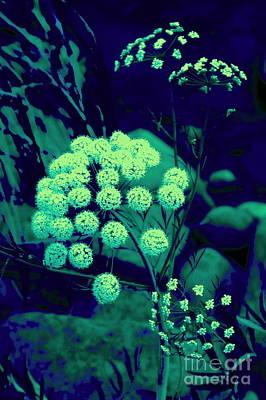Turguoise Surreal Plant Poster by Tuija Karhinen