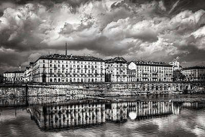 Turin Shrouded In Cloud Poster by Carol Japp