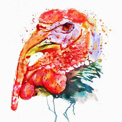 Turkey Head Poster by Marian Voicu