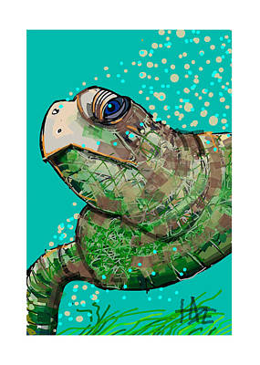 Turtle Poster by Haze Westerlund