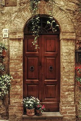 Tuscan Door Poster by Andrew Soundarajan