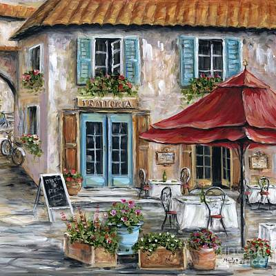 Tuscan Trattoria Square Poster by Marilyn Dunlap