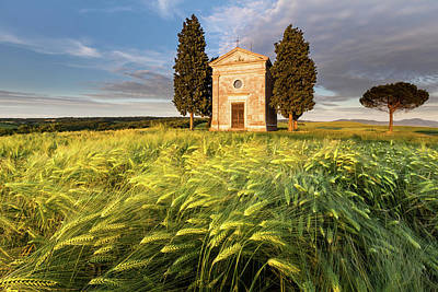 Tuscany Chapel Poster by Evgeni Dinev