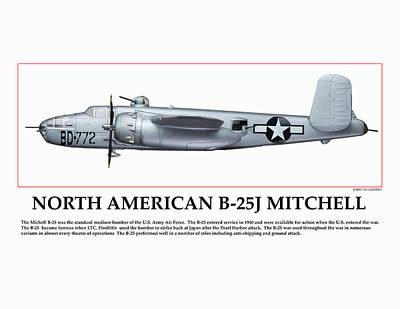 Tuskegee Aviator Bomber Poster by Jerry Taliaferro
