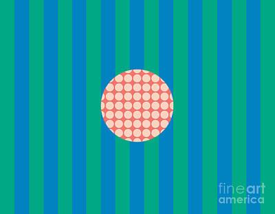 Twiggy Pink--blue Poster by Patti Britton