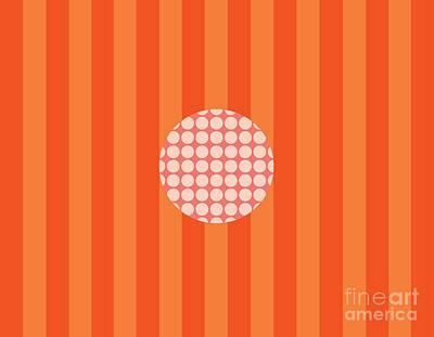 Twiggy Pink--orange Poster by Patti Britton