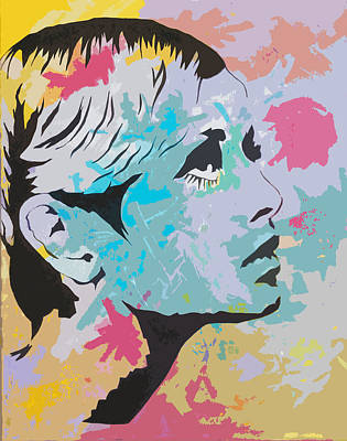 Twiggy Pop Art Portrait Poster by Andrew  Orton
