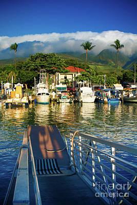 Twilight At The Marina Lahaina Harbour West Maui Hawaii Poster by Sharon Mau
