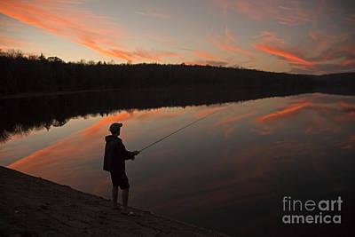 Twilight Fishing Delight Poster by John Stephens