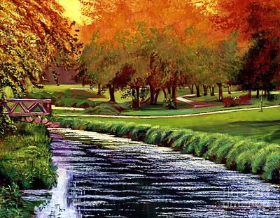 Twilight Golf Poster by David Lloyd Glover