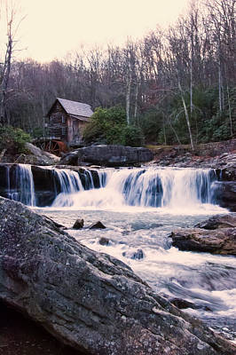 Twilight Image Of Glade Creek Grist Mill Poster by Chris Flees