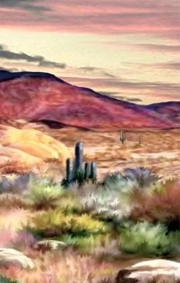 Twilight On The Desert Image 2 Poster by Ron Chambers
