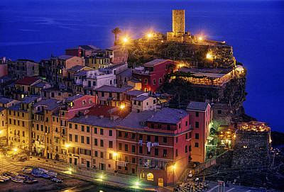 Twilight On The Italian Coast Poster by Andrew Soundarajan