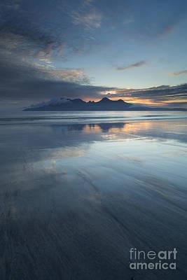 Twilight Sunset Over The Isle Of Rhum Poster by John Potter