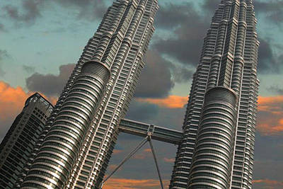 Twin Towers Poster by Debbie McIntyre