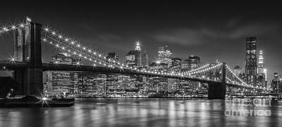 Twinkle, Twinkle Brooklyn Bridge Poster by Henk Meijer Photography