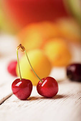 Two Cherries  Poster by Vadim Goodwill