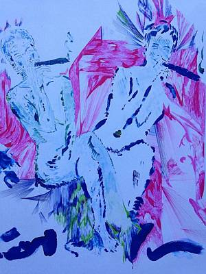 Two Having Fun Poster by Contemporary Michael Angelo