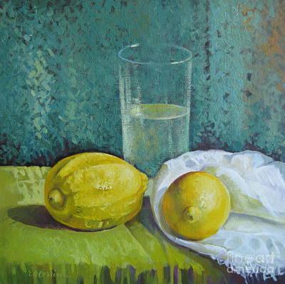 Two Lemons Poster by Elena Oleniuc