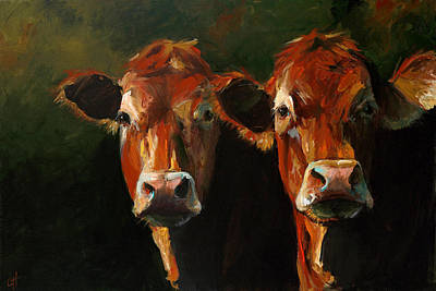 Two Limousins Poster by Cari Humphry