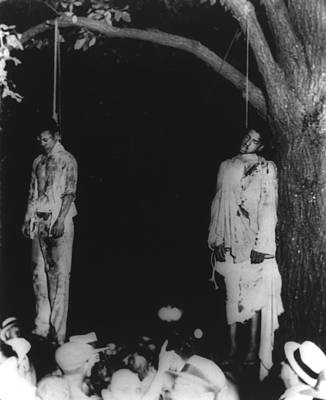 Two Lynched African American Men Poster by Everett