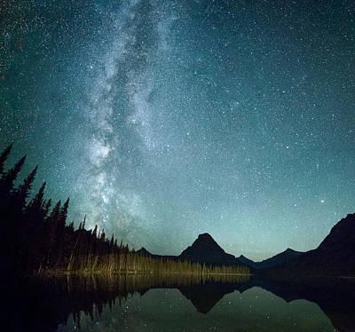 Milky Way // Two Medicine Lake, Glacier National Park Poster by Nicholas Parker