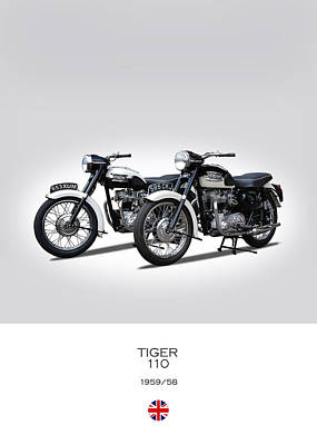 Two Triumph Tigers Poster by Mark Rogan