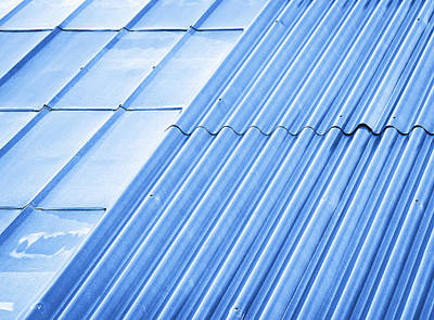 Two Types Of Metal Roofs Poster by Jozef Jankola