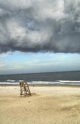 Tybee Island Storm Poster by Tammy Wetzel