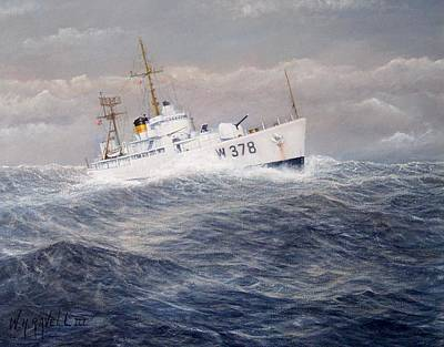 U. S. Coast Guard Cutter Halfmoon Poster by William H RaVell III