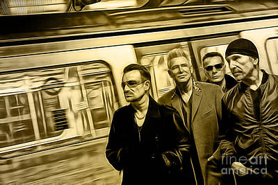 U2 Collection Poster by Marvin Blaine