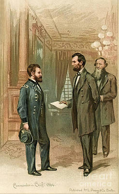 Ulysses S. Grant With Abraham Lincoln Poster by Wellcome Images