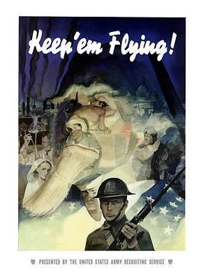 Keep 'em Flying - Uncle Sam  Poster by War Is Hell Store