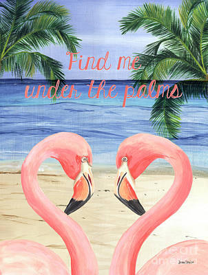 Under The Palms Poster by Debbie DeWitt