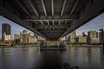 Under The Roberto Clemente Bridge Poster by Rick Berk