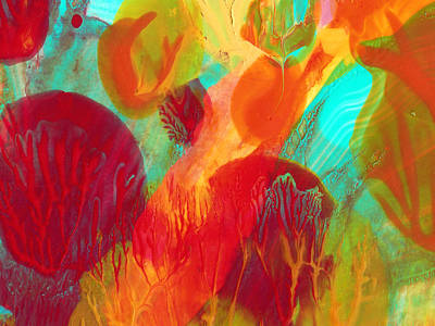 Under The Sea Abstract 2 Poster by Amy Vangsgard