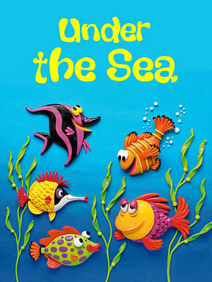 Under The Sea Poster Poster by Amy Vangsgard